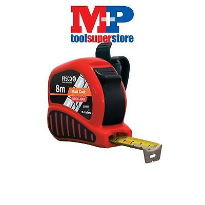 Fisco BMC08 BM8M Brick-Mate Pocket Block Brick Tape Measure 8m (Width 25mm)