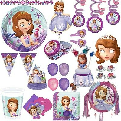 Disney Sofia die Erste Party Kinder Geburtstag Party Deko Set Prinzessin lila