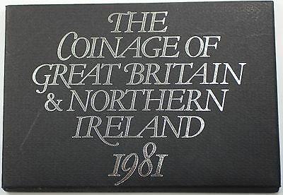 1981 Great Britain Decimal Coins 6 Coin Proof Set Mint Token