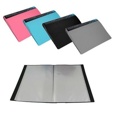 A4 Display Presentation Document Folder Book File | 40 Pockets Portfolio Colours