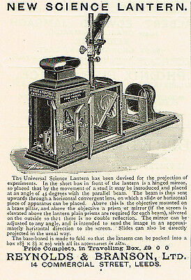 1899 AD Strout & Rendall's Science Lantern-by Reynolds & Branson, Leeds
