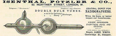 1900 AD Isenthal Potzler & Co. Double Bulb Tubes-85 Mortimer St., London