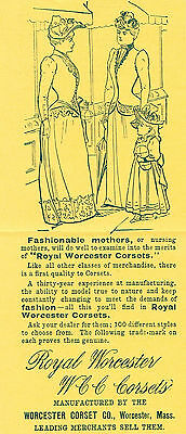 1891 AD Royal Worcester Corsets-the difference original advertising