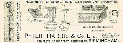 1899 AD Philip Harris, Birmingham lab. furnishes-Pattern Atwood Machine