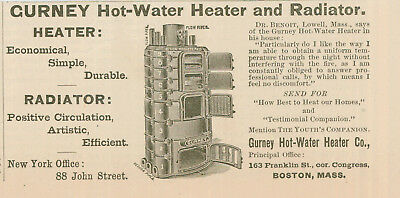 1890 AD Gurney hot water heater stove-best to heat