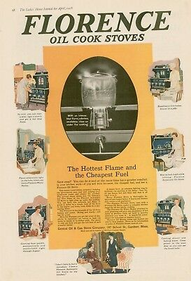 1918 Florence oil cook stoves advertising AD