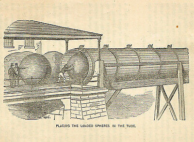 1872 print New Tube and sphere form of transportation-Bonwill, Del. art