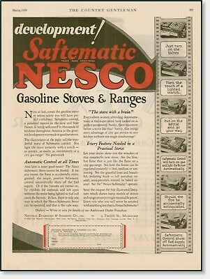 1929 Nesco Gasoline Stoves & Ranges  advertising AD