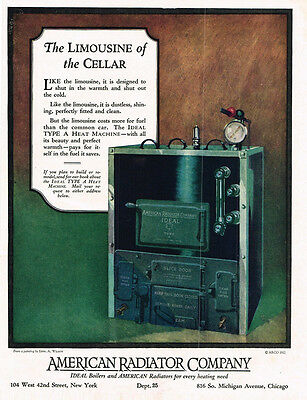 1925 AD American Radiator Company limousine of the cellar  advertising