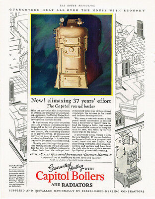1927 AD Capitol Boilers and Radiators heating  advertising