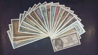 GREECE - SUPER FULL SET of 28 x Inflation banknotes *RARE* All 100% UNC Grade