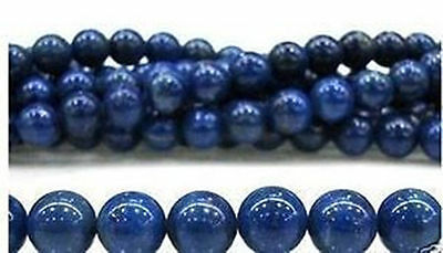 8mm Blue Egyptian Lazuli Lapis Gemstone Loose Bead 15''