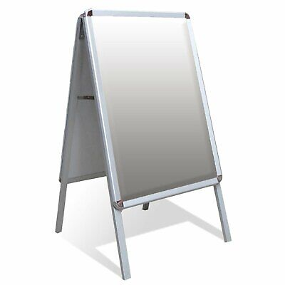 A-Board Double Side Aluminium Pavement Sign, Snap Frame Poster Display Stand