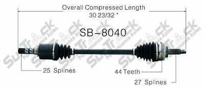 CV Axle Assembly Front Left \ Right GSP NCV68052 fits 2014 Subaru Forester