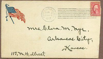 World War I Soldier's Postal Cover, YMCA Stationery, 1917