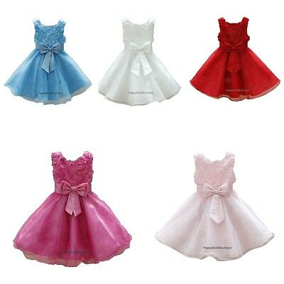 Girls Bridesmaid Party Dress Flower Girl Birthday Party Special Day Wedding Prom