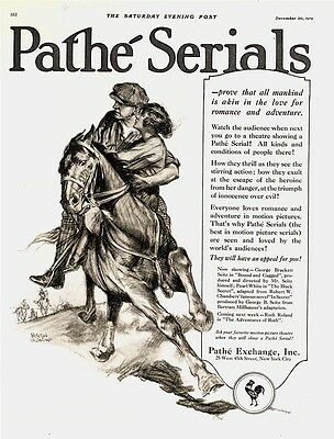 1919 AD Pathe Serials at motion picture theatres pair on horse-Dealton Valentino