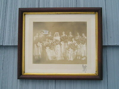 Antique Eastlake Victorian Solid Wood Gold Gilt Picture Frame Old Wedding Photo