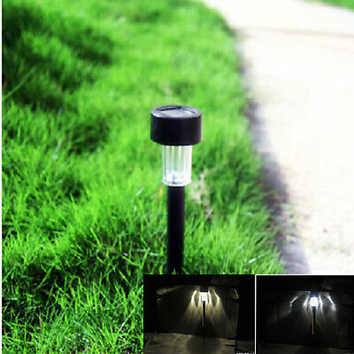 Outdoor Solar LED Cool Warm Garden Lawn Landscape Post Lamp Yard Path Light new