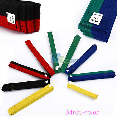 Multiple Colors Karate Tae Kwon Do Judo Martial Arts Kick Boxing Belt New
