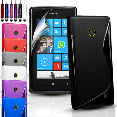S-Line Silicone Gel Case Cover For Nokia Lumia 630 / 635 (BLACK ONLY FOR 635)