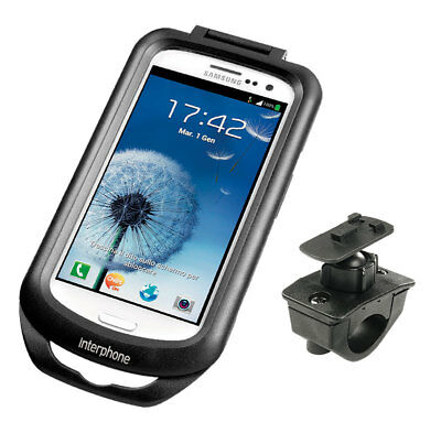 Interphone Galaxy S3 Mobile Phone Holder For Tubular Motorcycle Handlebars
