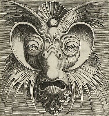 "Frans Huys: ""Mask with Dishes Around the Eyes"" (1555) — Giclee Fine Art Print"