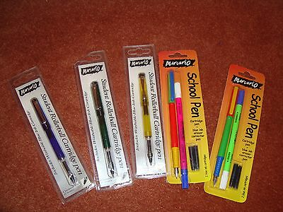 100 Carded Cartridge Fountain / Rollerball Pens