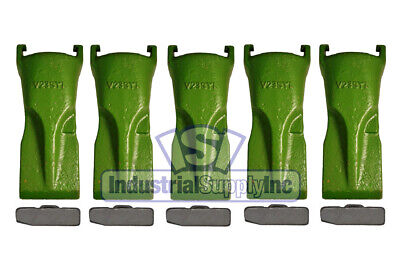 5-pk ESCO V23SYL Super-V Style Bucket Digging Teeth W/Flex Pins