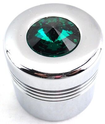 glove box knob cover green jewel chrome aluminum for Peterbilt Kenworth