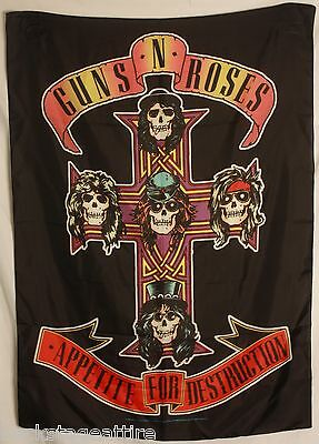 GUNS N' ROSES Axl Appetite For 4 Destruction Cloth Fabric Poster Flag Banner-New