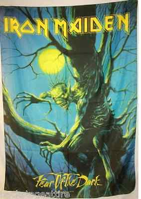 "IRON MAIDEN Fear of the Dark 29""X43"" Cloth Fabric Poster Flag-New! Wall Banner"