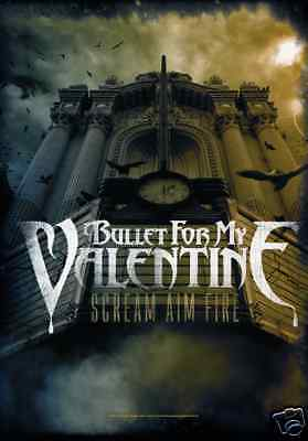 "BULLET FOR MY VALENTINE Scream Aim Fire 29""X43"" Cloth Poster Fabric Flag-New!"