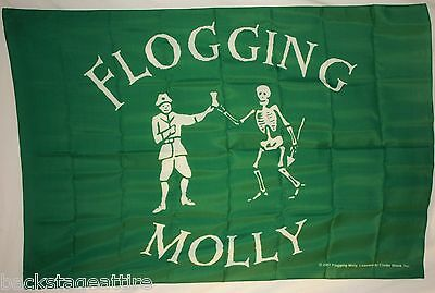 "Flogging Molly Drink 29""X43"" (75cmX110cm) Cloth Fabric Poster Flag Banner New!"