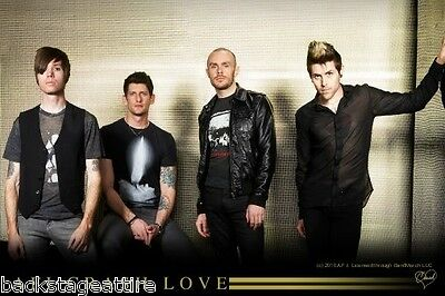 "AFI A Fire Inside Crash Love Group Cloth Poster 29""X43"" Flag Fabric Tapestry-NEW"