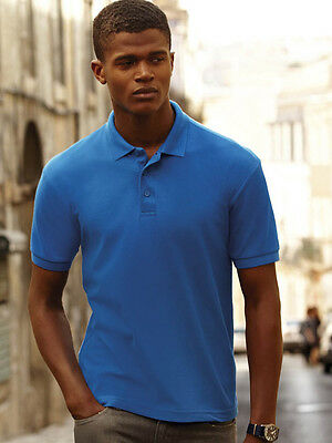 New Mens Fruit of the Loom Heavy Polycotton Polo Shirt Various Colours Sizes