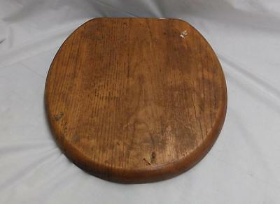 Vintage Oak Wood Toilet Seat Lid Clean Condition 3577-14