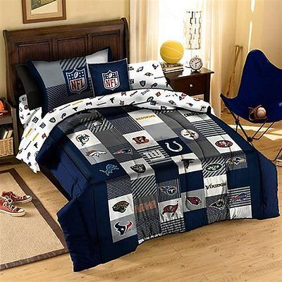 NFL Quilt and Pillow Sham Set Twin Size