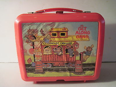 Get Along Gang Plastic Lunch Box with Thermos! Clubhouse Caboose! trains