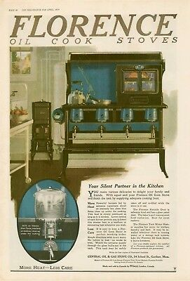 1920 Florence oil stove intense blue flame AD