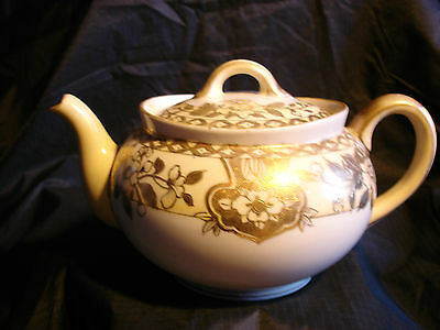 Very Old Noritaki Teapot Gold Lace Made In Japan, Free Shipping