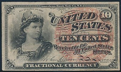 Fr1258 10¢ 4Th Issue Fractional Currency Au Br5581