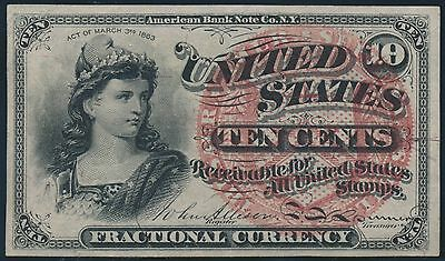 Fr1258 10¢ 4Th Issue Fractional Currency -- Au -- Br5584