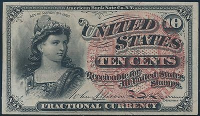 Fr1258 10¢ 4Th Issue Fractional Currency Very Choice Gem Cu Br5586
