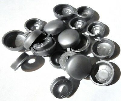 screw head cover sets(10) silver grey hinged for #6 #8 #10 M3 M4 M5 flat back