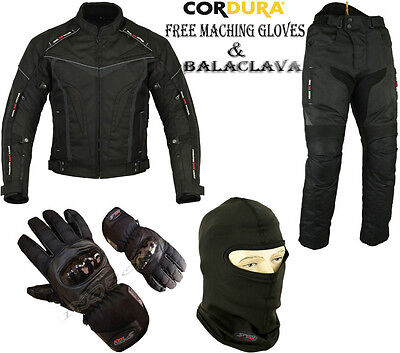 Night Hawk Mens Ce Armour Motorbike / Motorcycle Textile Jacket Trousers Suit