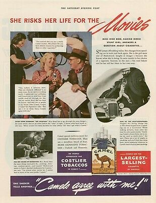 1938 Camel cigarettes Ione Reed advertising photo AD
