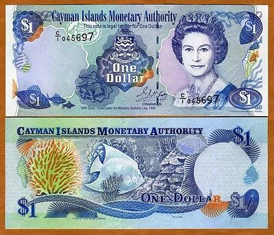 Cayman Islands, $1, 1998, P-21a, QEII, UNC