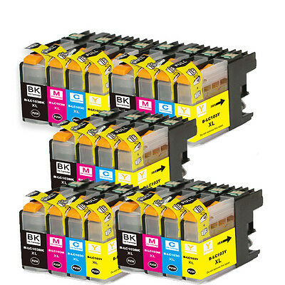 20 PK Ink Set + smart chip for Brother LC101 LC103 MFC J245 J285DW J450DW J470DW