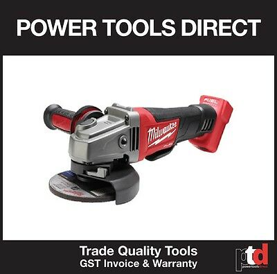 New Milwaukee 18V Cordless Fuel M18 Cag125 Xpd 125Mm Angle Grinder Skn Bare Tool